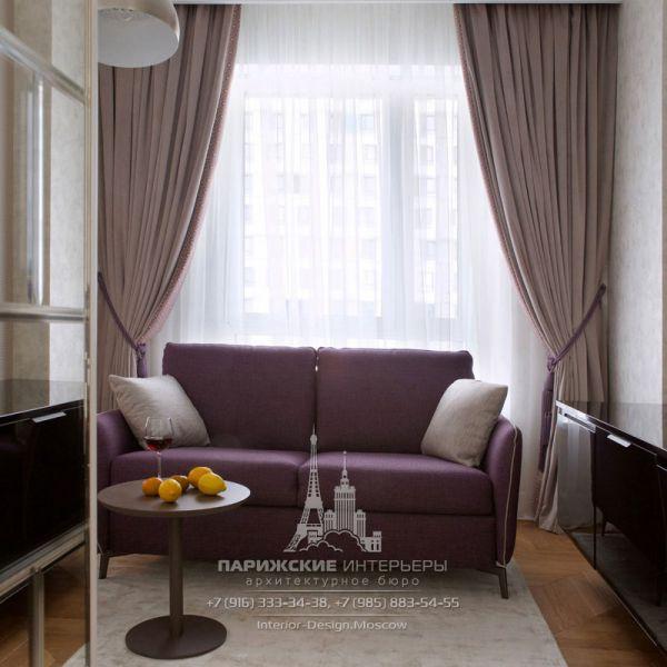 Дизайн интерьера зоны отдыха в гостиной. Фото 2019