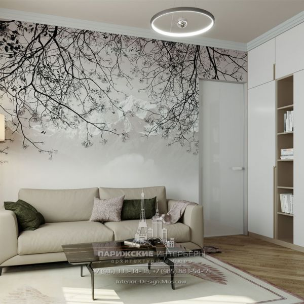 Дизайн интерьера гостиной в маленькой квартире
