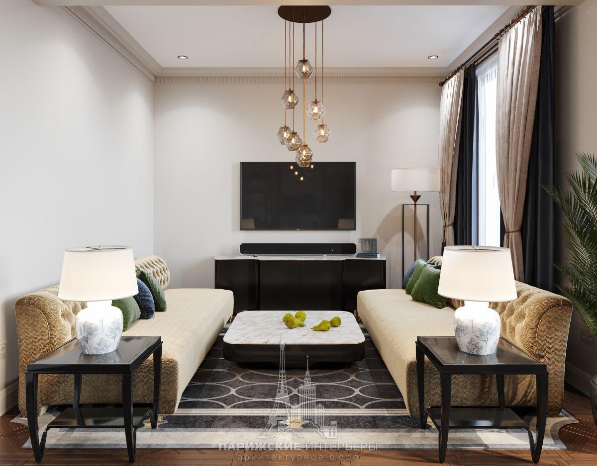 Дизайн загородного коттеджа изнутри – интерьер гостиной