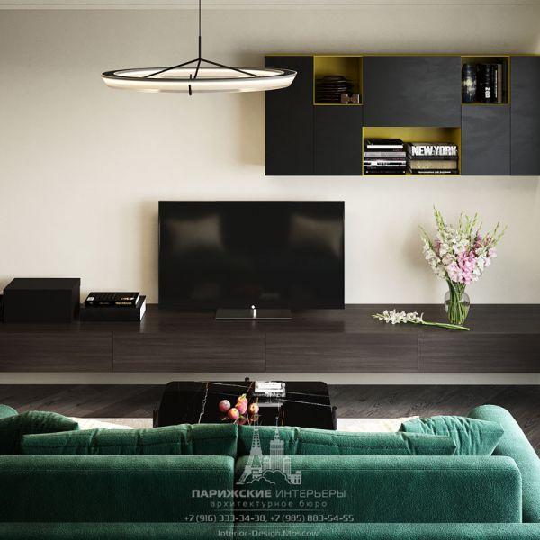 Дизайн интерьера гостиной в двухуровневой квартире