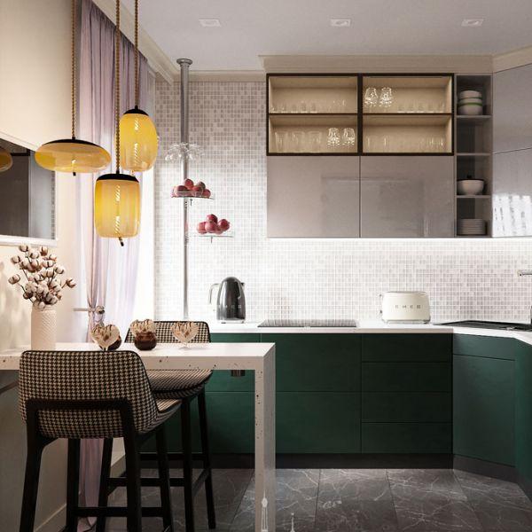 Дизайн интерьера кухни в светлых тонах