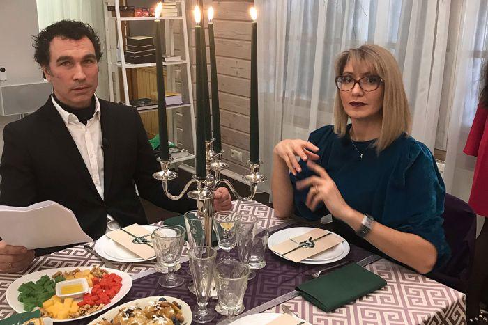 Телеведущий Тимофей Пронькин и дизайнер интерьера Виктория Харахашян