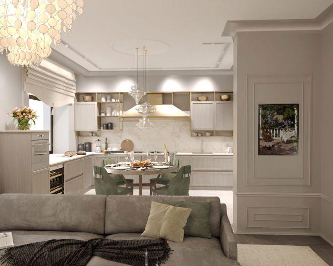 50 оттенков серого. Дизайн 2-комнатной квартиры в светлых тонах