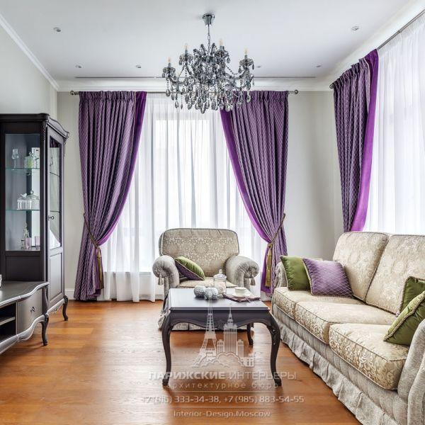 Дизайн гостиной в стиле неоклассика