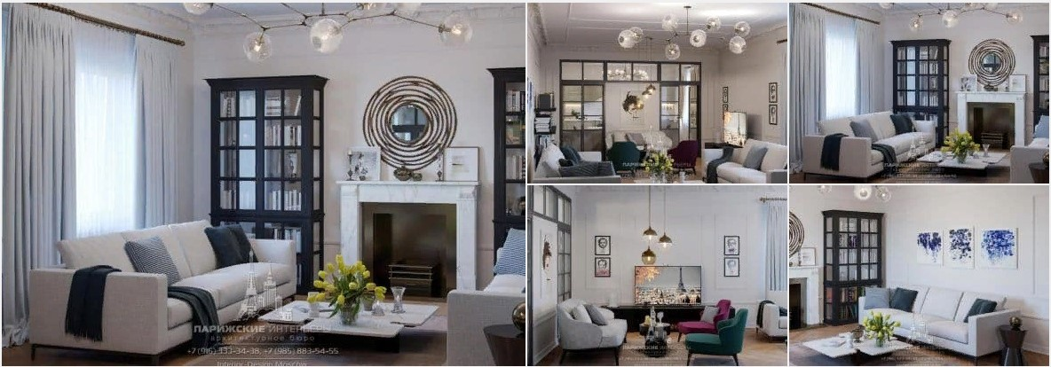 Современный дизайн интерьера 3-комнатной квартиры в парижском стиле