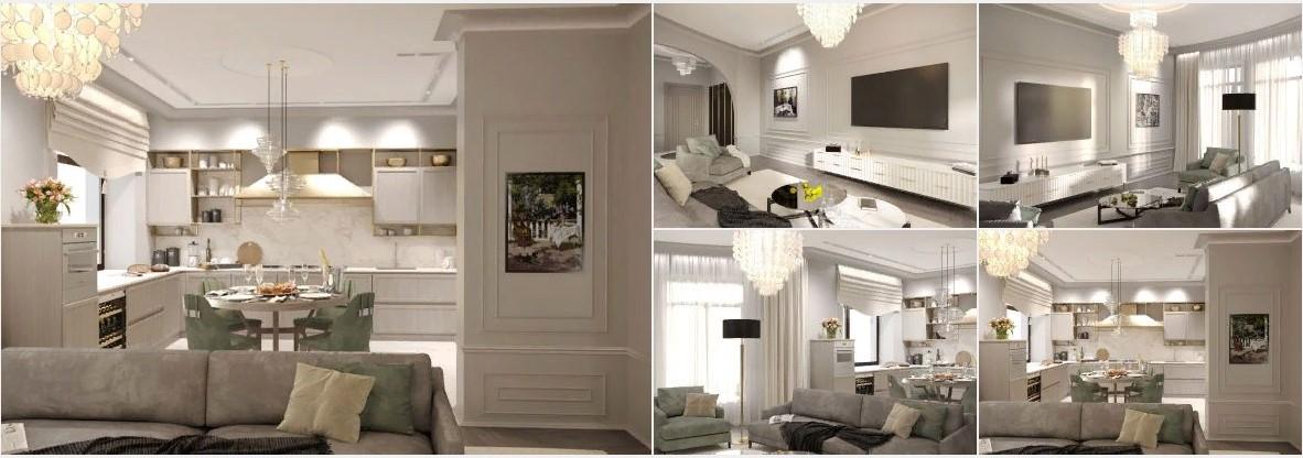 Современный дизайн 2-комнатной квартиры в светлых тонах