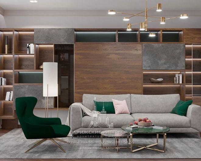 Нью-йоркский прагматизм с парижским шармом. Дизайн квартиры в современном стиле