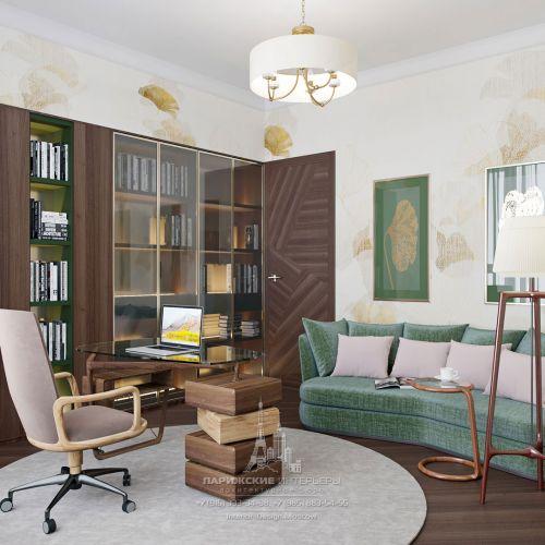 Интерьер с душой Монмартра: кабинет в парижском стиле