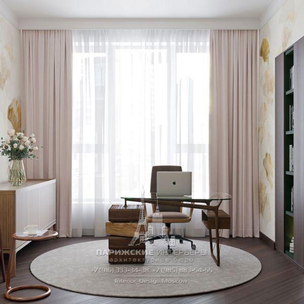 Дизайн интерьера кабинета в парижском стиле