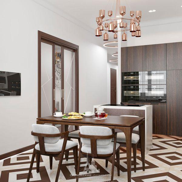 Дизайн интерьера кухни в парижском стиле