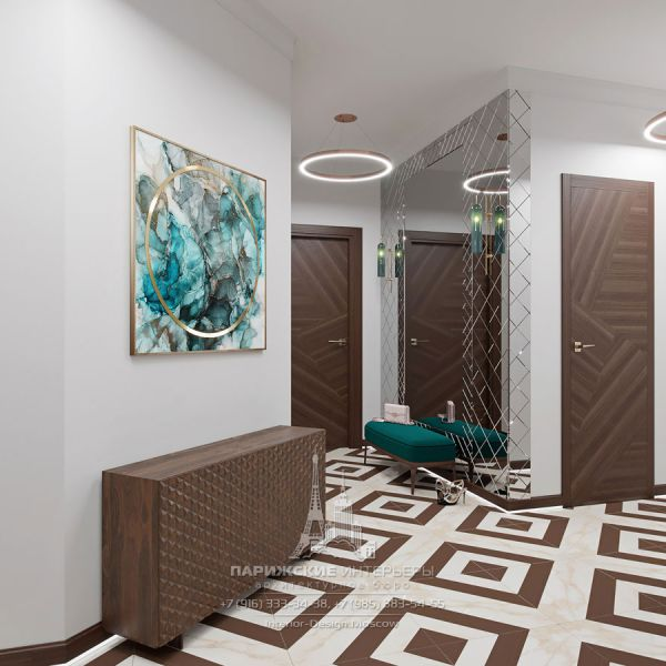 Дизайн интерьера прихожей в парижском стиле