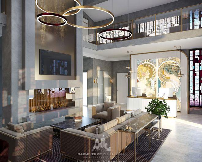 Дизайн отеля в Карелии