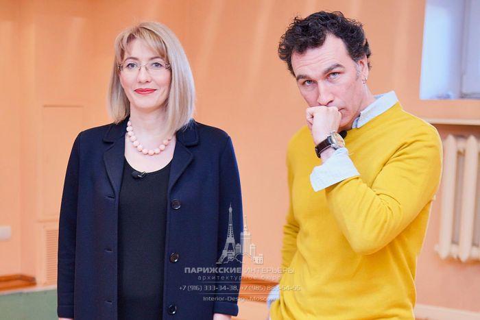 Телеведущий Тимофей Пронькин и дизайнер Виктория Харахашян