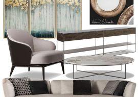 Подбор мебели и декора дизайнером – комплектация интерьера современной гостиной