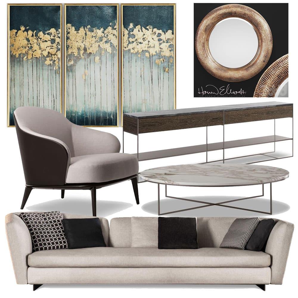 Подбор мебели и декора дизайнером