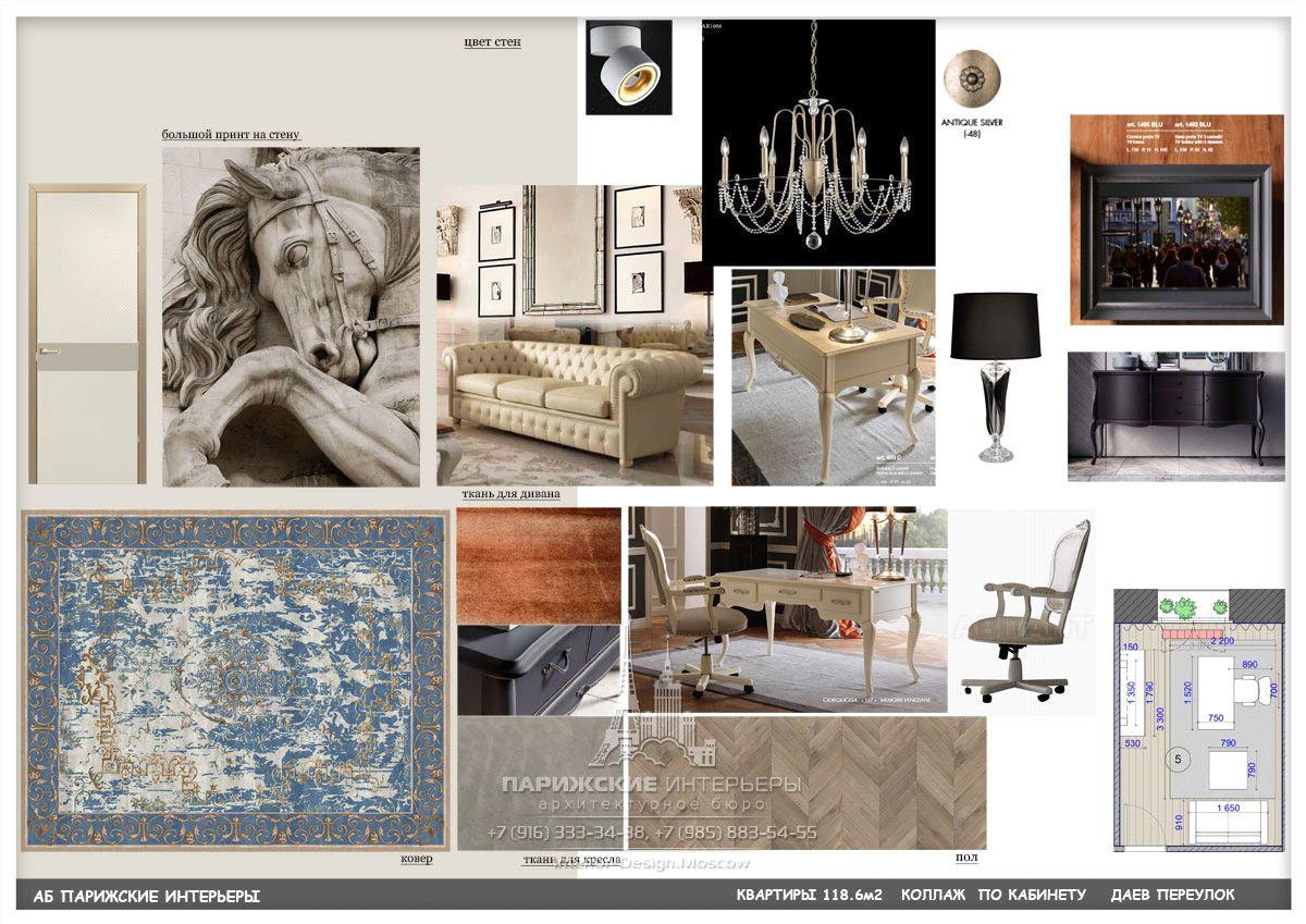 Подбор мебели для кабинета в классическом стиле