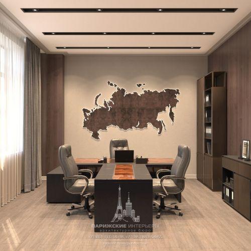 Дизайн офиса в современном стиле для большой компании